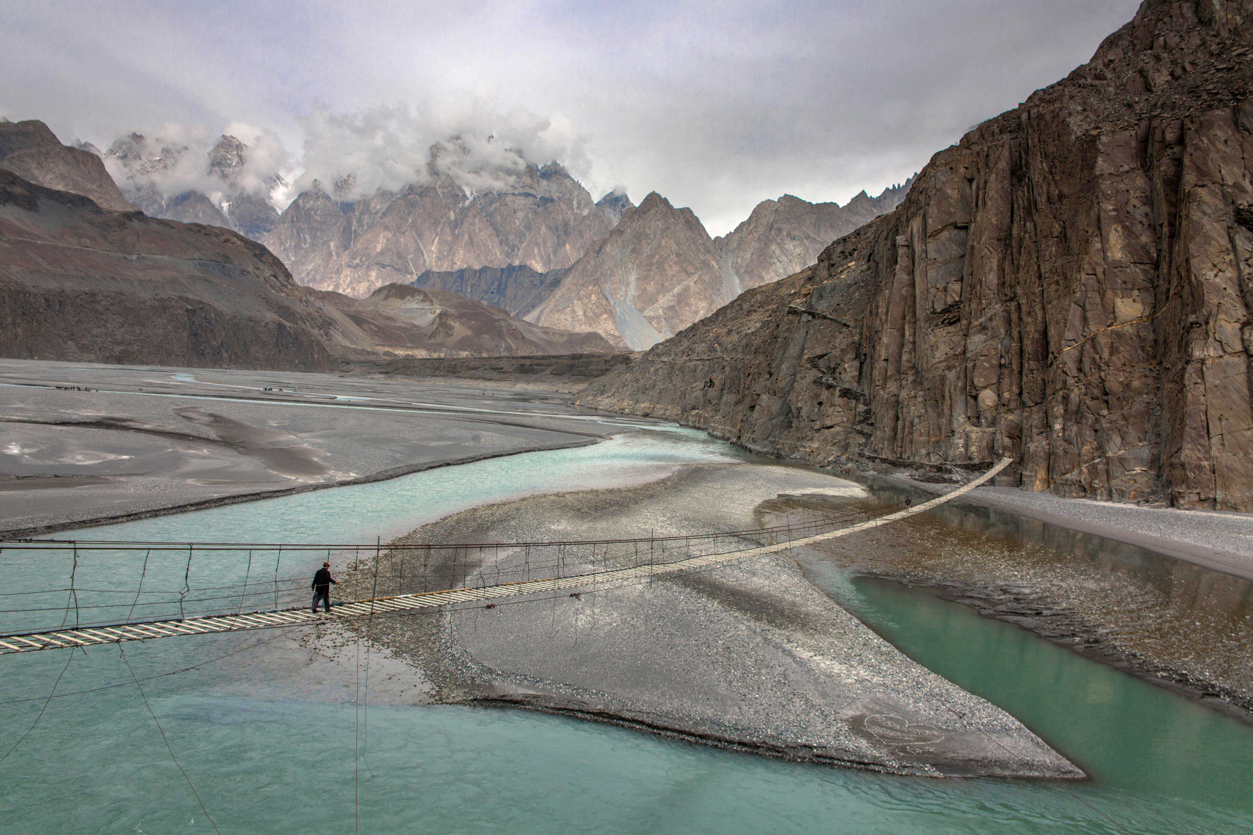 Hosseini bridge Pasu Upper Hunza Valley
