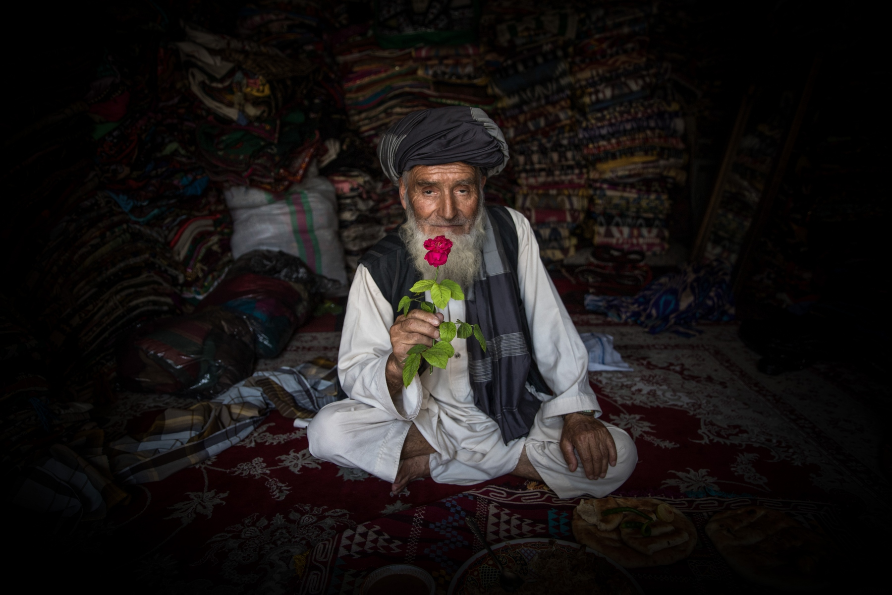 Atta Mohammad is 73 years old, he is from Baghlan. He doesn't work but used to be a mecanician. What he loves over all about flowers is their scent. His favorite flower is the pink rose. Flowers bring him a lot of contentment , and he grows a few of them in his garden.