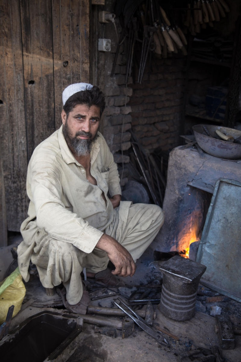 Iron monger making tools in Jalalabad