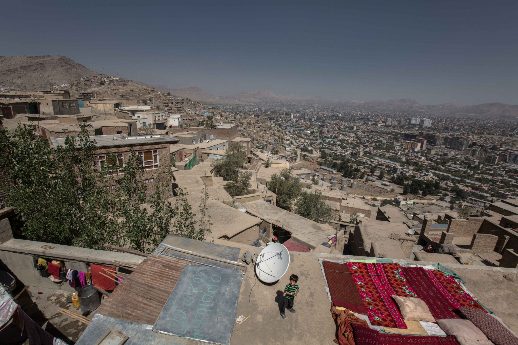 View of Kabul from the heights of the city